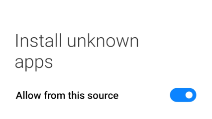 Allow unknown sources